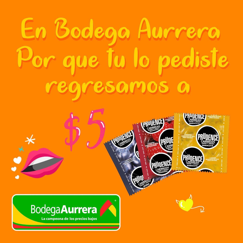 Promoción en condones Bodega Aurrera