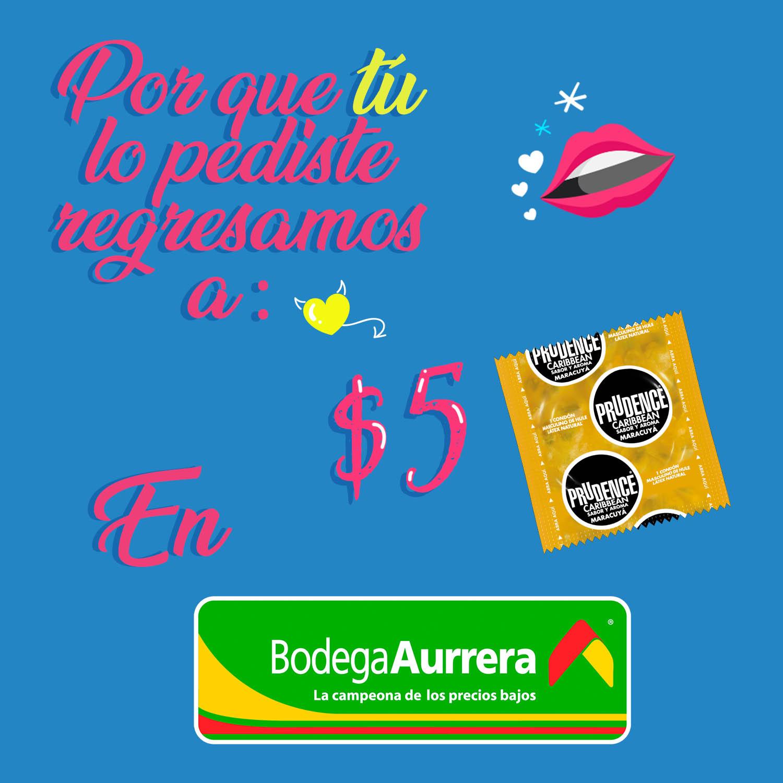 Promocion en condones Aurrera